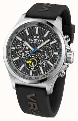 TW Steel 男士vr46不锈钢黑色橡胶表带 TW938