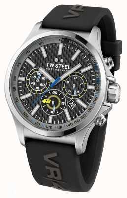 TW Steel 男士vr46不锈钢黑色橡胶表带 TW939