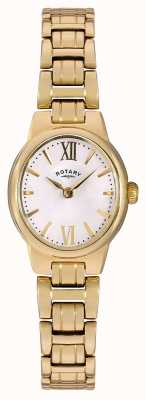 Rotary 女装金色pvd镀白色表盘 LB02748/01