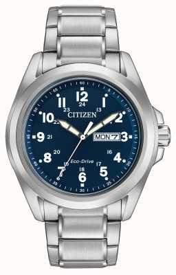 Citizen Gents生态驱动蓝色表盘运动手镯 AW0050-58L