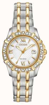 Citizen 生态驱动28颗钻石女性双音 EW2364-50A