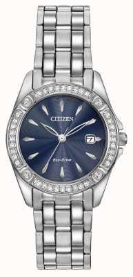 Citizen 女装生态驱动轮廓水晶表壳 EW2350-54L