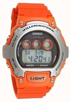 Casio 运动警报器男女通用照明计时码表 W-214H-4AVEF
