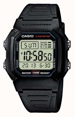 Casio 运动装备警报计时码表数字 W-800H-1AVES