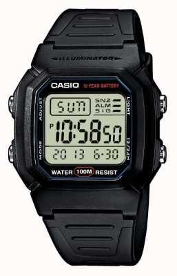 Casio 运动齿轮报警计时码表 W-800H-1AVES