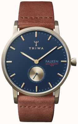 Triwa 中性棕色真皮falken海军表盘 FAST104-CL010217