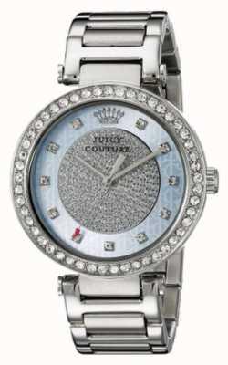 Juicy Couture 女式银色表带圆形银色表盘 1901266