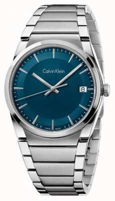 Calvin Klein 男士步骤蓝绿色表盘 K6K3114L