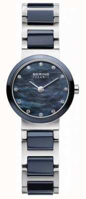 Bering 女式蓝色表盘蓝色镀银表带 10725-787