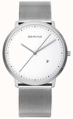 Bering 中性银色表带白色表盘 11139-004