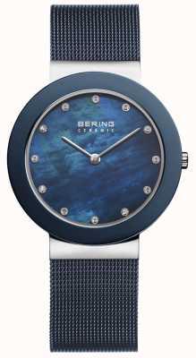 Bering 女式蓝色表带蓝色表盘 11435-387