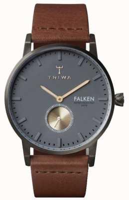 Triwa 男士falken棕色真皮灰色表盘 FAST102-CL010213