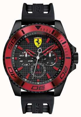 Scuderia Ferrari 男士黑色橡胶表带黑色表盘红色细节 0830310