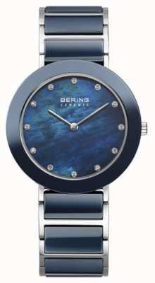 Bering 女人海军金属表带海军表盘 11435-787