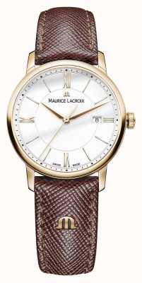 Maurice Lacroix Eliros女士白色表盘棕色皮革表带 EL1094-PVP01-111-1
