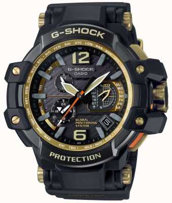 Casio 混合GPS高级重力黑色和金色 GPW-1000GB-1AER