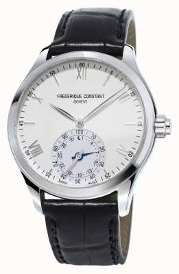 Frederique Constant 钟表smartwatch白色表盘黑色皮革表带 FC-285S5B6