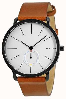 Skagen 男士皮革表带手表hagen SKW6216