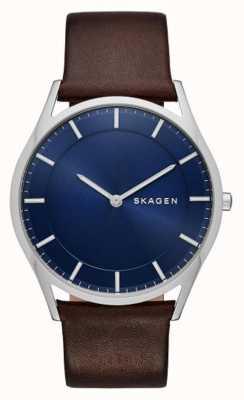 Skagen 棕色皮革霍尔斯特手表 SKW6237