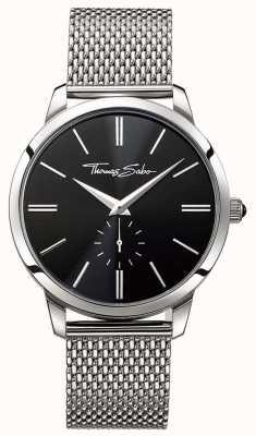 Thomas Sabo 男士黑色表盘不锈钢表带 WA0152-201-203-42