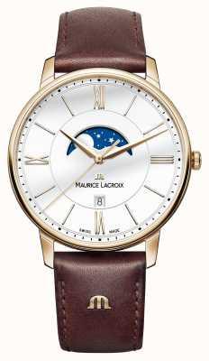 Maurice Lacroix 男士eliros月相棕色皮革表带 EL1108-PVP01-112-1