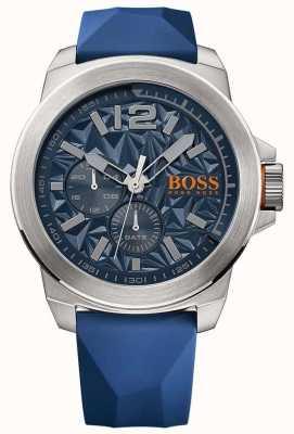 Hugo Boss Orange 男士蓝色橡胶表带蓝色表盘 1513348