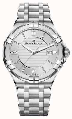 Maurice Lacroix 男士aikon不锈钢表链银色表盘 AI1008-SS002-130-1