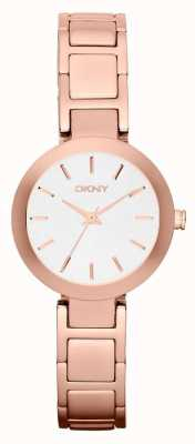 DKNY 女人白色表盘玫瑰金表带 NY2400