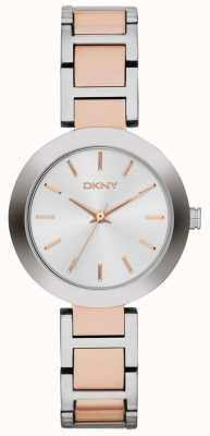 DKNY 女人白色拨号双音色表带 NY2402