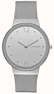 Skagen 女人圆形银色表盘银色金属网带 SKW2380