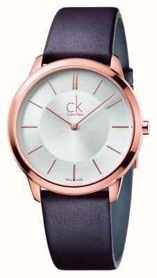 Calvin Klein 男士最小的棕色皮革表带 K3M216G6