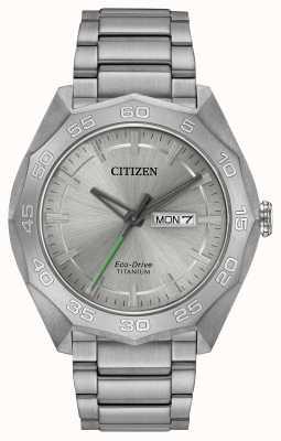 Citizen 男士钛金表盘银色表盘 AW0060-54A