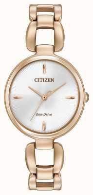 Citizen 女装玫瑰金pvd镀金手链 EM0423-56A