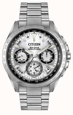 Citizen 男士生态驱动银色卫星波f900 CC9010-74A
