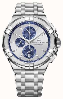 Maurice Lacroix 男士aikon不锈钢表链银色表盘 AI1018-SS002-131-1