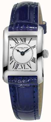 Frederique Constant 女式carree蓝色真皮表带银色表盘 FC-200MC16