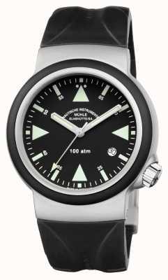 Muhle Glashutte Sar救援计时器印度橡皮筋黑色表盘 M1-41-03-KB