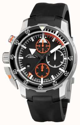 Muhle Glashutte Sar flieger-chronograph印度橡皮筋黑色表盘 M1-41-33-KB