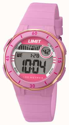 Limit 女人粉红色表带数字表盘 5557.24