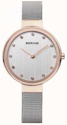 Bering 女式不锈钢网带银色表盘 12034-064
