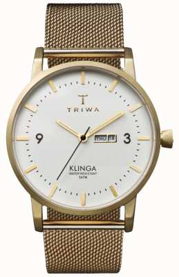 Triwa 中性象牙klinga金丝网金属表带 KLST103-ME021313