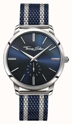 Thomas Sabo 男士反叛精神双色钢网带蓝色表盘 WA0268-281-209-42