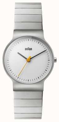 Braun 女士不锈钢手链白色表盘 BN0211SLBTL