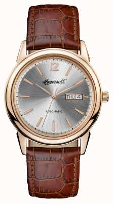 Ingersoll 男士1892年新款棕褐色皮革表带 I00503