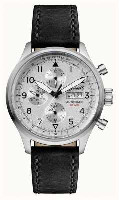 Ingersoll 男士们发现了贝特曼黑色皮革表带银色表盘 I01901