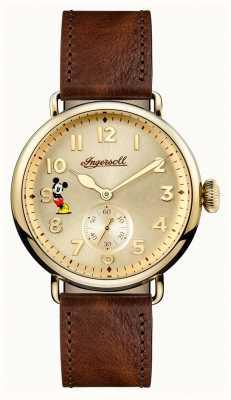 Disney By Ingersoll 男装联盟特伦顿迪士尼限量版棕色皮革 ID01201