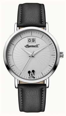 Disney By Ingersoll 女装工会迪士尼黑色皮革表带 ID00501