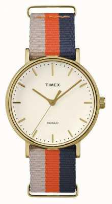 Timex 男女通用weekender fairfax橙色棕色表带 TW2P91600