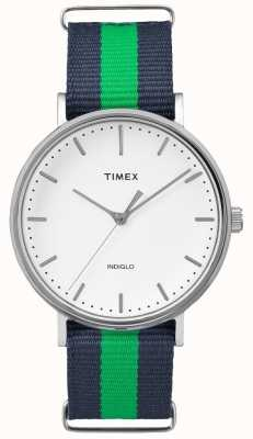 Timex 男女皆宜的weekender fairfax藏青色表带 TW2P90800