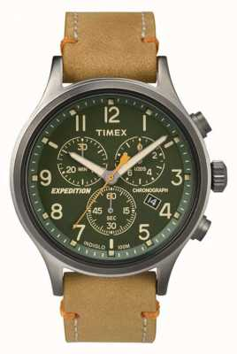 Timex 男装侦察计时码表绿色表盘 TW4B04400